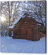 Winter Stable Canvas Print