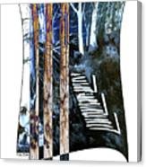 Winter Stairs In Blue Canvas Print