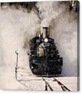 Winter Steam At Rockwood Colorado Canvas Print