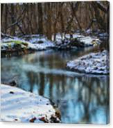 Winter Stream, Pa Canvas Print