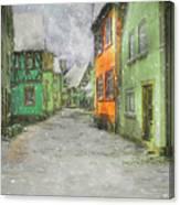 Winter Street Canvas Print