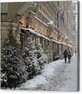 Winter Stroll In Helsinki Canvas Print