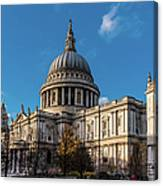 Winter Sun St Paul's Cathedral Canvas Print