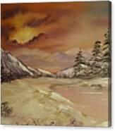 Winter Sunburst Canvas Print