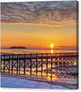 Winter Sunrise At The Beach Canvas Print
