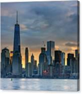 Winter Sunrise New York City Canvas Print