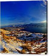 Winter Sunrise On Skaha Canvas Print