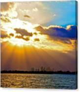 Winter Sunrise Over Miami Beach Canvas Print