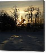 Winter Sunrise Shadows Canvas Print