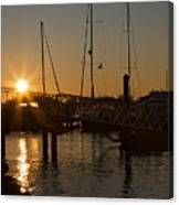 Winter Sunset At Annapolis Harbour Canvas Print