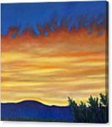 Winter Sunset In El Dorado Canvas Print