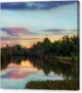 Winter Sunset On The Slough Canvas Print