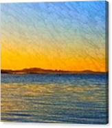 Winter Sunset Over Ipswich Bay Canvas Print