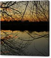 Winter Sunset Reflection Canvas Print