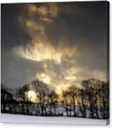 Winter Sunset, Trough Of Bowland, England Canvas Print