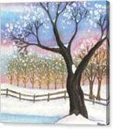 Winter Tree Landscape Canvas Print
