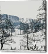 Winter Trees Solitude Landscape Canvas Print