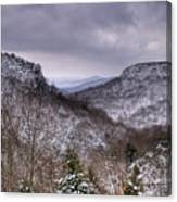 Winter Valley Canvas Print