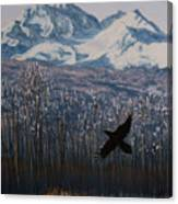Winter Valley Raven Canvas Print