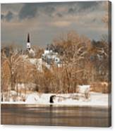 Winter View Of Allenstown Canvas Print