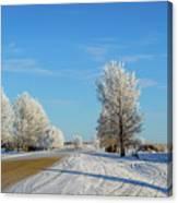 Winter In Saskatchewan Canvas Print