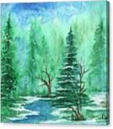 Winter Walk A  Canvas Print