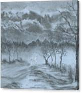Winter With My Lover Canvas Print