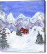 Winter Wonderland - Www.jennifer-d-art.com Canvas Print