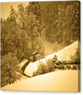 Winter Wonderland In Switzerland - Up The Hills Canvas Print