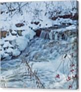 Winter Wonderland Of Minnehaha Falls  Canvas Print