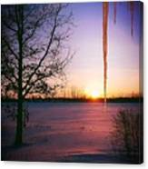 Winters Glow Canvas Print