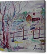 Winter's Joys Canvas Print