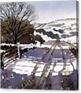Winters Lane Stainland Canvas Print