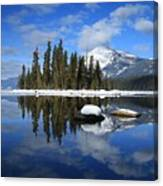 Winters Mirror Canvas Print
