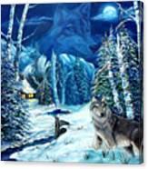 Winters Night 2 Canvas Print