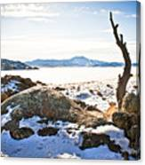 Winter's Silence - Pathfinder Reservoir - Wyoming Canvas Print