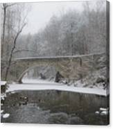Wintertime In The Wissahickon Valley Canvas Print