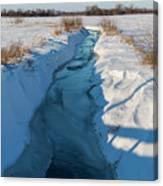 Wintery Creek Canvas Print