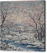 Wintery December Canvas Print