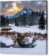 Wintery Wasatch Sunset Canvas Print