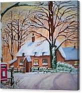 Wintry Evening Canvas Print