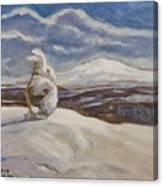 Wintry Landscape Canvas Print