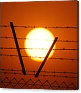 Wire And Sun Canvas Print