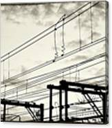 Wires And Coils Silhouette Canvas Print