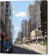 Wisconsin Ave Cubist Canvas Print