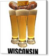 Wisconsin Food Pyramid Canvas Print