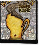 Wisconsin Power Blend Canvas Print