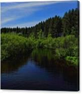 Wisconsin River In Vilas County Canvas Print