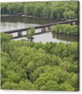 Wisconsin River Overlook 2 Canvas Print