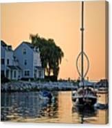 Wishbone Yacht Canvas Print